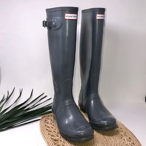 Hunter Rain Boots Womens Original Tall Gloss Sz 8